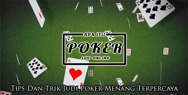 trik judi poker online